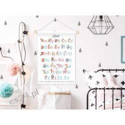 obrazek, plakat do pokoju dziecka, alfabet Obrazki