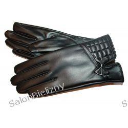 995 MORAJ rękawiczki z eko skórki czarne S/M Szlafroki