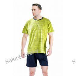 934* SESTO SENSO piżama STEFANO pistacja/szary XL Odzież i bielizna męska