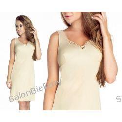 595* MEVA fashion HALKA jedwabna MEWA krem 46 Halki i koszulki nocne