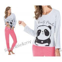 288* ENVIE piżama damska PANDA bawełna S szary/róż Biustonosze