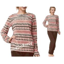 000* KEY piżama damska micro polar ciepła XL Piżamy