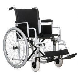 Wózek inwalidzki stalowy ręczny domowy spacerowy