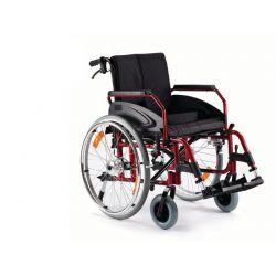 Wózek inwalidzki aluminiowy z hamulcem pomocniczym