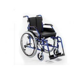 Wózek inwalidzki aluminiowy z łamanym oparciem