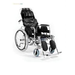 Wózek inwalidzki aluminiowy stabilizacja + toaleta
