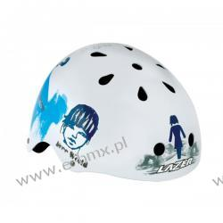 KASK LAZER BMX ONE TRASHY WHITE BLUE