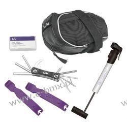 Zestaw narzędzi Liv w torebce podsiodłowej z mini pomką  Pompki