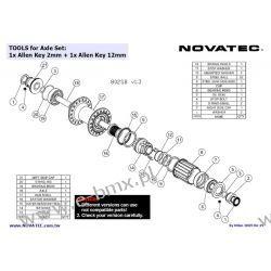 ŚRUBA BĘBENKA PIASTY TYŁ NOVATEC 802SB V-brake