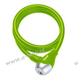 Zapięcie rowerowe spirala Tonyon TY560 10x1200mm zielone Sztywne