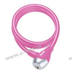 Zapięcie rowerowe spirala Tonyon TY560 10x1200mm różowe Zabezpieczenia