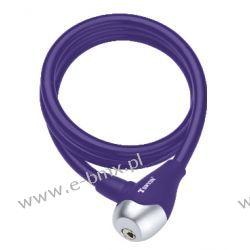 Zapięcie rowerowe spirala Tonyon TY560 10x1200mm fioletowe Piasty