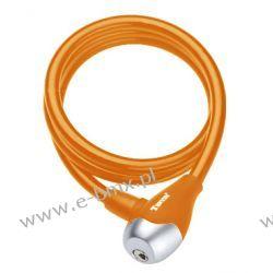 Zapięcie rowerowe spirala Tonyon TY560 10x1200mm pomarańczowe Zabezpieczenia