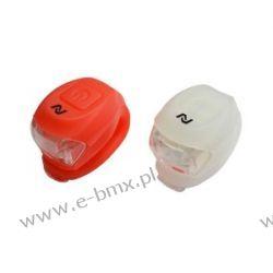 Zestaw lamp bat.:przód 2 LED-2f.,tył:2 LED-2f,z silikonu,zawiera baterie