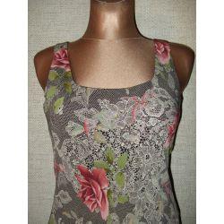 Śliczna Sukienka Letnia Koszulka Róże R.36-38