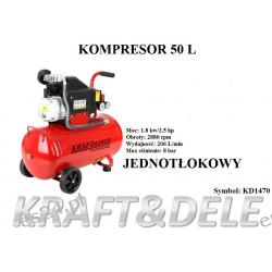 kompresor 50l jednotłokowy1470 KD  Agregaty prądotwórcze