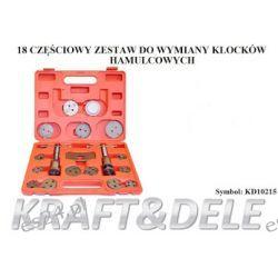 Zestaw do wymiany klocków hamulcowych 18 el [Kraft&dele] Narzędzia i sprzęt warsztatowy