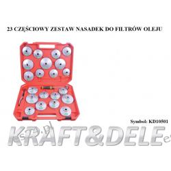 zestaw nasadek do filtrów olejowych 23 el. [Kraft&dele] Narzędzia i sprzęt warsztatowy