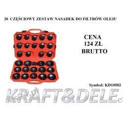 zestaw nasadek do filtrów olejowych 30 el. [Kraft&dele] Narzędzia i sprzęt warsztatowy