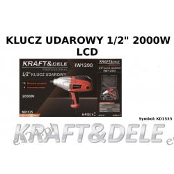 """klucz udarowy 1/2"""" 2000W LCD [Kraft&dele] Części"""