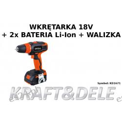 Wkrętarka 18 V Li-ion KD1671