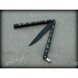 Nóż motylek moro czarne ostrze N-454