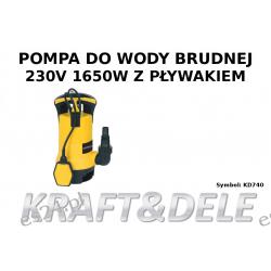 pompa wody brudnej z pływakiem KD740 Pneumatyka