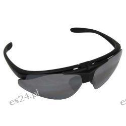 Okulary strzeleckie ochronne - wymienne szybki + sztywne etui do pasa [MFH] Nożyce i sekatory