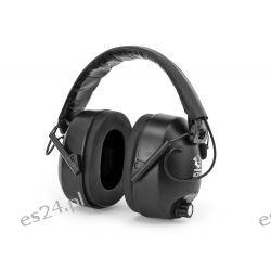 Słuchawki ochronne RealHunter Active - czarne [RealHunter] Noże