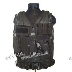 Kamizelka taktyczna czarna dla ochroniarzy [Mil-Tec] Nieskategoryzowane
