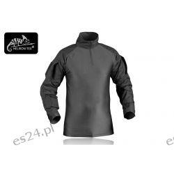 Bluza combat shirt z nałokietnikami czarna Odzież, Obuwie, Dodatki
