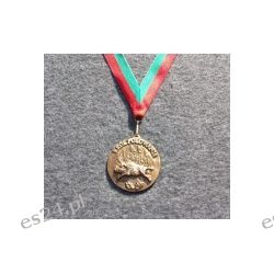 Mosiężny medal myśliwski Król Polowania 6,5 cm Sport i Turystyka
