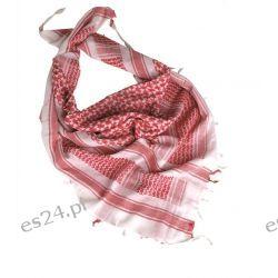 Arafatka biało-czerwona Mil-Tec Shemagh Odzież, Obuwie, Dodatki