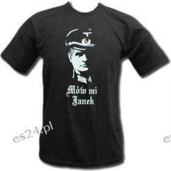 """Koszulka """"Mów mi Janek"""" Hans Kloss - Prezent dla Jana Odzież, Obuwie, Dodatki"""