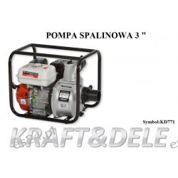 Motopompa pompa spalinowa 3cale do wody 1000l/min KD771 Odzież