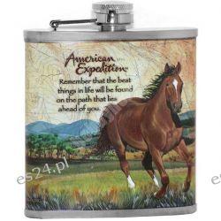 Piersiówka myśliwska z koniem American Expedition Myślistwo
