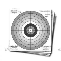 Tarcze strzeleckie do wiatrówki 14x14cm, kartonowe, 20szt Sport i Turystyka
