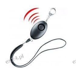 Alarm osobisty 120 dB z agrafką i praktycznym kółkiem na klucze Sport i Turystyka