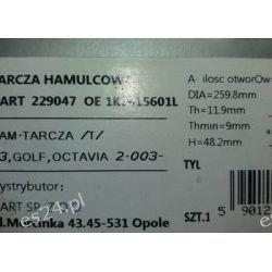 Tarcza hamulcowa HART 229047 Motoryzacja