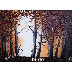Złoty Las - obraz olejny, ręcznie namalowany