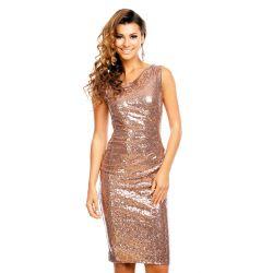 LUKSUSOWA  sukienka CEKINY __  38 M