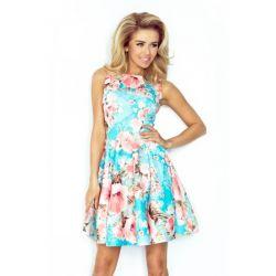 Piękna sukienka Rozkloszowana w kwiaty __ 40 L