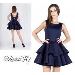 ŚLICZNA sukienka z pianki FALBANY polska __ 36 S
