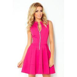 GRANATOWA  sukienka suwak KIESZONKI __ 44 XXL