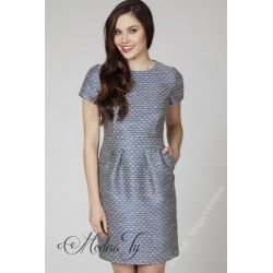 AMBIGANTE elegancka żakardowa sukienka _34  XS