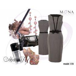 MONA 170 urocza prosta sukienka __ 38 M