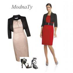 WIECZOROWA GARSONKA * polski producent sukienka 46