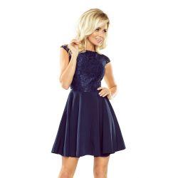 Koronkowa sukienka MARTA rozkloszowana WESELE 40 L