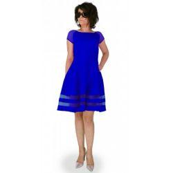 MON315 Sukienka z siatką KOLORY WESELE 42 XL