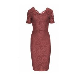 Połyskująca sukienka z koronki WESELE  42 XL kolor